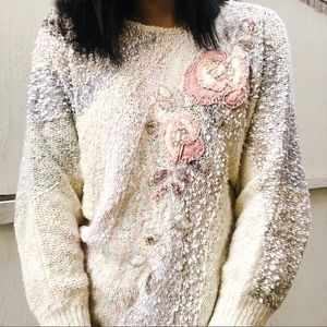 Sweaters - 80s Romantic Batwing Sweater 🌸 Nubby Texture Knit